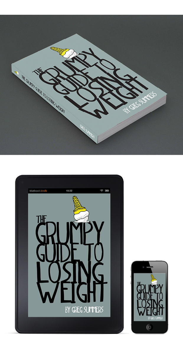 Book Cover Design Guide : Diet book cover design the grumpy guide to losing weight